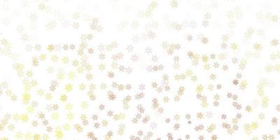 modelo abstrato de vetor amarelo claro com folhas.