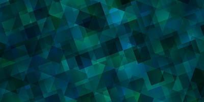 textura de vetor verde claro com estilo triangular.