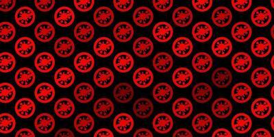 textura vector laranja escuro com símbolos de doença.