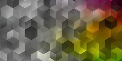 luz padrão multicolorido de vetor com hexágonos coloridos.