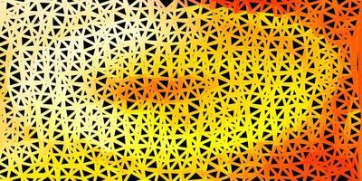 desenho poligonal geométrico do vetor laranja claro.