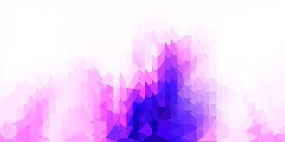 padrão de mosaico de triângulo de vetor rosa e roxo claro.