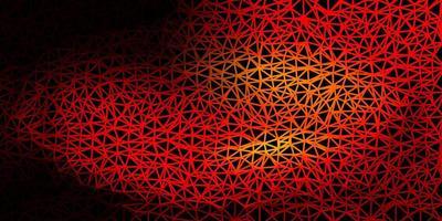 fundo poligonal do vetor laranja escuro.