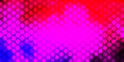 textura vector rosa claro, vermelho em estilo retangular.