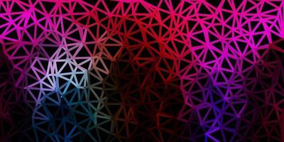 papel de parede poligonal geométrico de vetor multicolor escuro.