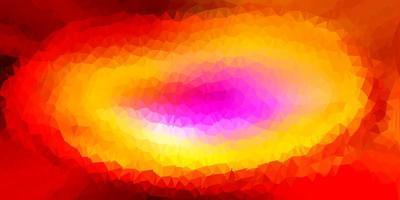 layout de polígono gradiente de vetor multicolor luz