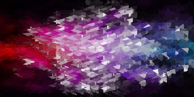textura de triângulo abstrato de vetor rosa e verde escuro.