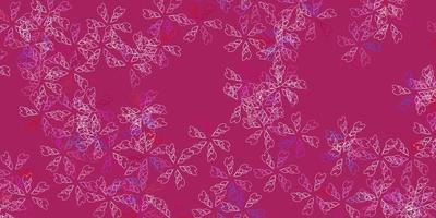 padrão abstrato rosa vetor com folhas.