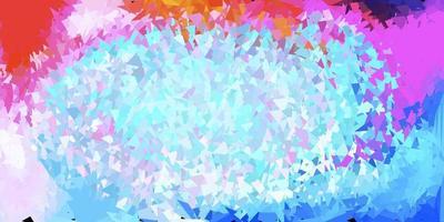 luz multicolor vetor abstrato triângulo padrão.