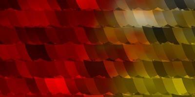 layout de vetor vermelho e amarelo claro com formas hexagonais.