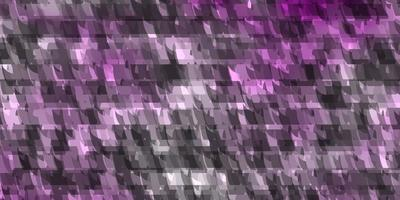 pano de fundo vector roxo claro com linhas, triângulos.
