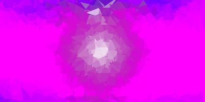 pano de fundo do triângulo abstrato do vetor roxo claro.