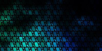 pano de fundo vector azul e verde escuro com linhas, triângulos.