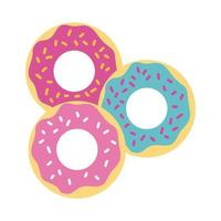 ícone de doce estilo simples de rosquinhas vetor