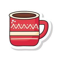 ícone de adesivo do copo de feliz natal