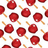 fundo de deliciosas maçãs doces vetor