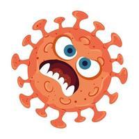 design de vetor de desenhos animados de vírus covid 19