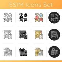 conjunto de ícones de decoração para casa vetor