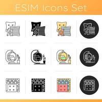conjunto de ícones de utensílios domésticos vetor