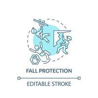 ícone do conceito de proteção contra quedas vetor