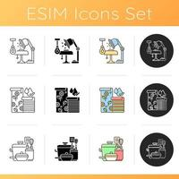 conjunto de ícones de design residencial e residencial vetor