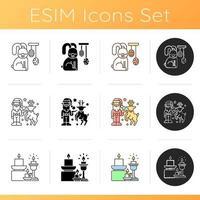 conjunto de ícones de utensílios domésticos e móveis vetor