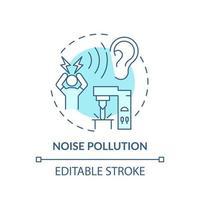 ícone do conceito de poluição sonora vetor
