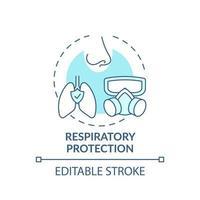 ícone do conceito de proteção respiratória vetor
