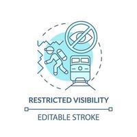ícone do conceito de visibilidade restrita vetor