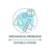 ícone do conceito de problemas mecânicos