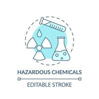ícone do conceito de produtos químicos perigosos vetor