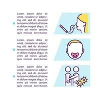 ícone do conceito de fatores de risco para dor de garganta com texto vetor
