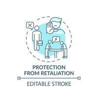 ícone do conceito de proteção contra retaliação vetor