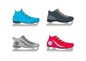 conjunto de design de ícones de patins de gelo vetor