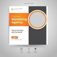 modelo de postagem de mídia social de marketing digital vetor