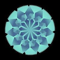 ornamento de círculo envolto na cor do céu azul vetor