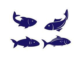 ilustração vetorial de modelo de design de ícone de peixe vetor