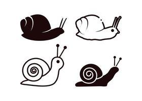 ilustração isolada do vetor do modelo do ícone do caracol