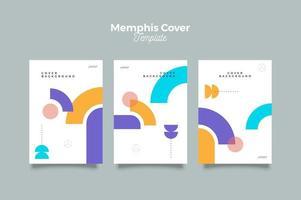 design do pôster da capa minimallist de memphis vetor