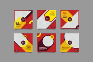 conjunto de design de modelo de banner de venda vetor