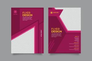 folheto publicitário de marketing empresarial criativo moderno vetor