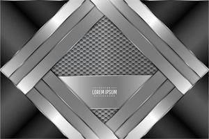 fundo de metal com padrão hexagonal vetor
