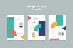 capa estilo memphis design vetor