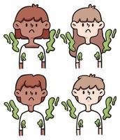 conceito de pessoas anti-higiênicas ilustração bonito dos desenhos animados