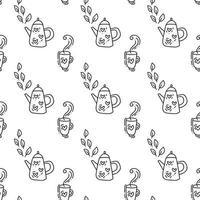 padrão sem emenda com bule em preto. perfeito para papel de parede, papel de presente, preenchimentos de padrão, fundo de página da web, cartão de felicitações de outono, travesseiro