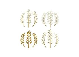 ilustração de vetor de modelo de design de ícone de trigo