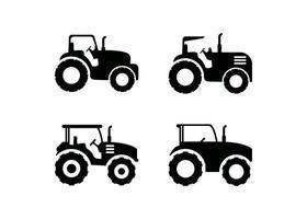 conjunto de modelo de design de ícone de trator vetor