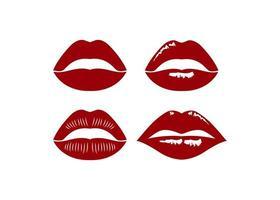 conjunto de design de ícone de lábios vetor