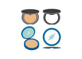 conjunto de ícones de pó de maquiagem vetor