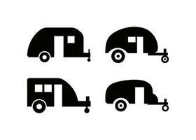 vetor de modelo de design de ícone de trailer de acampamento isolado